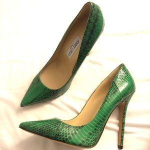 Authentic Jimmy Choo Snakeskin Heels Size 39.5